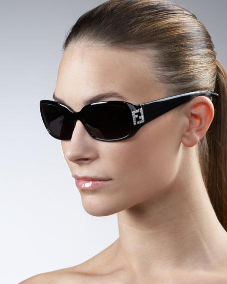 Crystal-FF Temple Sunglasses