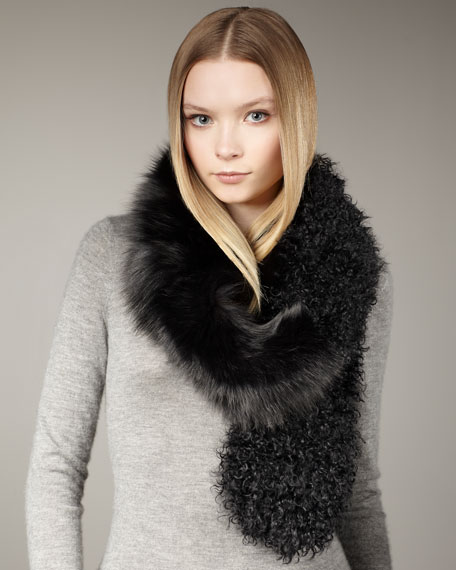 Lamb & Fox Scarf, Black