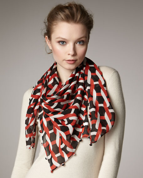 Busby Day Chain-Print Scarf