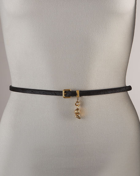 Calf Hair Mouse-Charm Belt