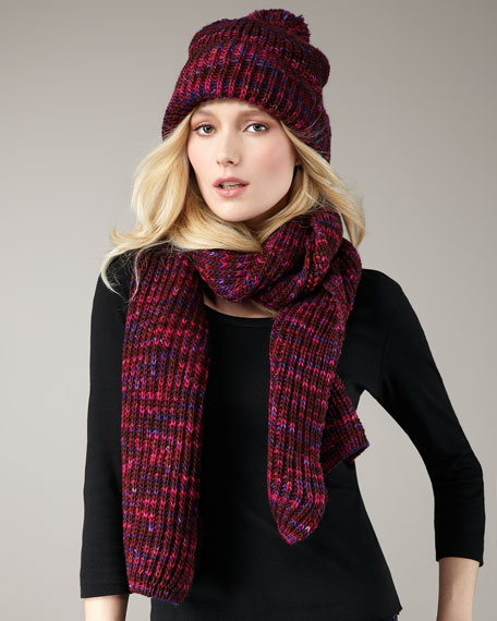 Tito Hand-Knit Wool Scarf