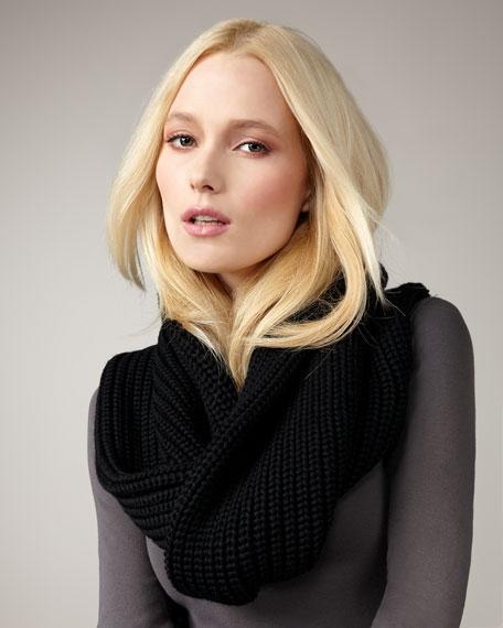 Uma Knit Snood, Black