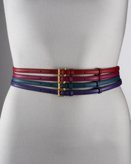 Saffiano Skinny Belt