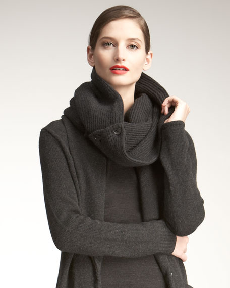 Buttoned Knit Snood