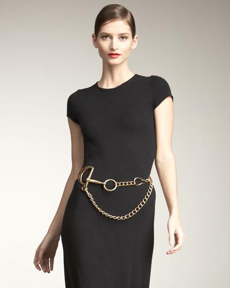 Tri-Strap Leather & Chain Belt