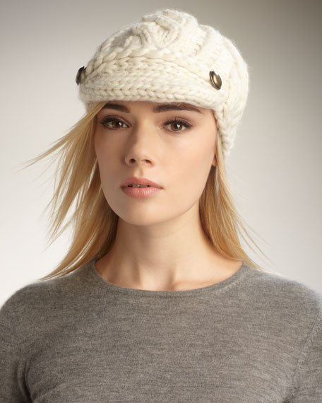 Scarlett Cable-Knit Cap