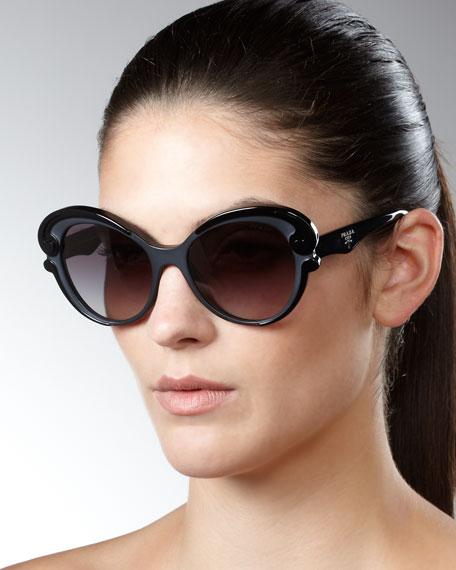 Prada Cat-Eye Sunglasses, Black