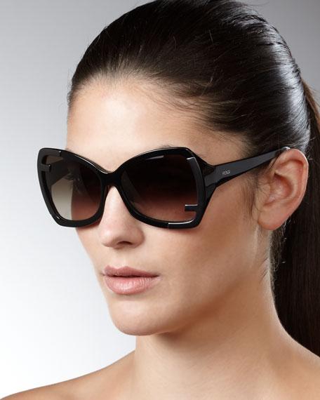 Zucca-Corner Sunglasses, Black