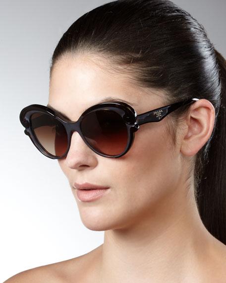 Cat-Eye Sunglasses, Brown