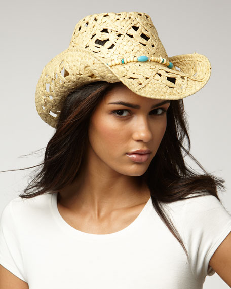 Beaded-Band Straw Hat
