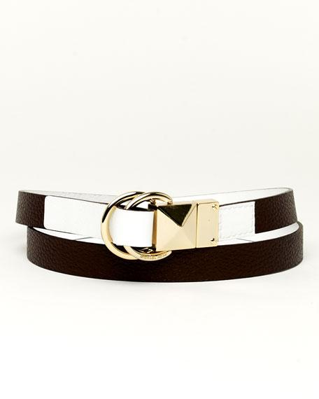 D-Ring Reversible Belt, Chocolate