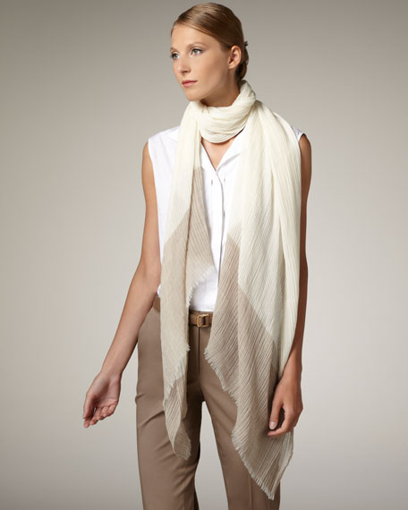 Cherbourg Crinkled Crepe Stole