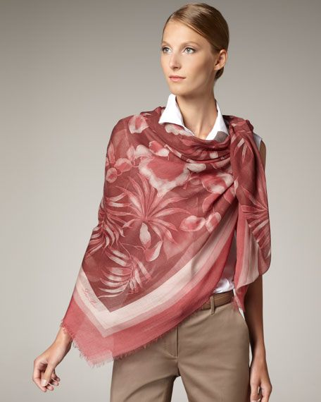 Tropicale Shawl, Pink