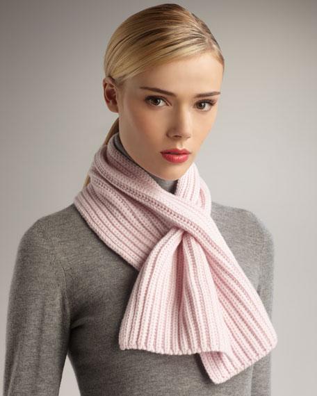 Knit Cashmere Scarf