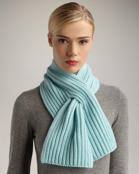Knit Cashmere Scarf