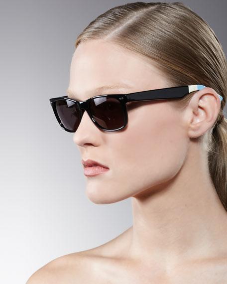 Classic 101 Sunglasses, Shiny Black