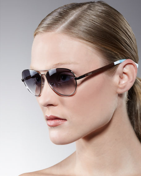 Classic 301 Aviator Sunglasses, Blue