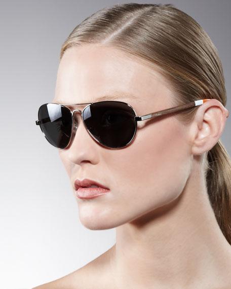 Classic 301 Aviator Sunglasses, Orange