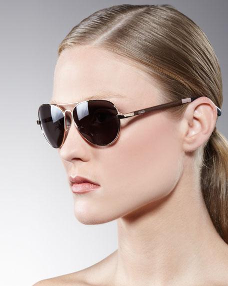 Aviator Sunglasses, Blush