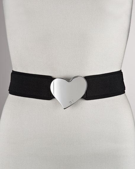Quinn Heart-Buckle Elastic Belt