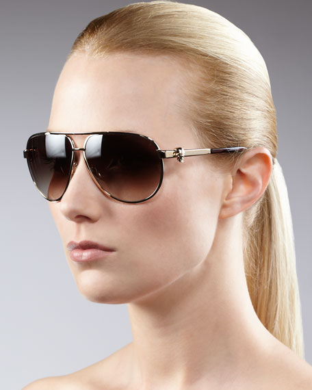 Classic Aviator Sunglasses, Golden