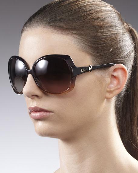 Squared Ombre Sunglasses, Plum