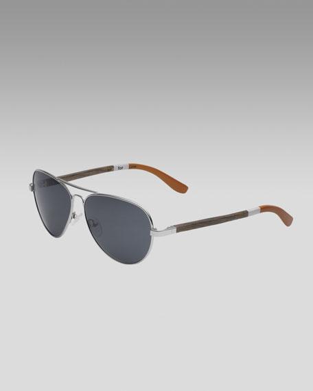 Classic 301 Sunglasses, Silver/Orange