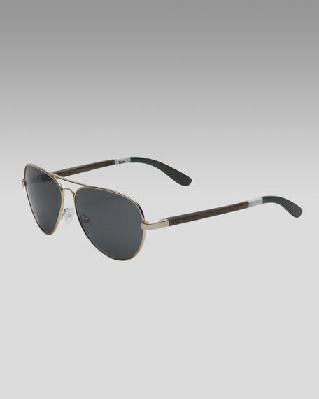 Classic 301 Sunglasses, Gold/Olive