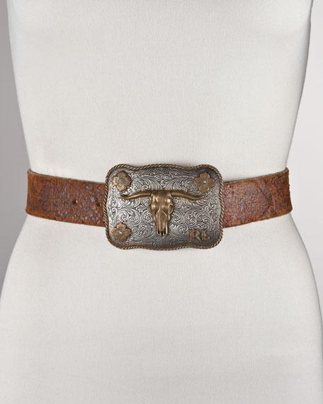 Longhorn-Buckle Belt