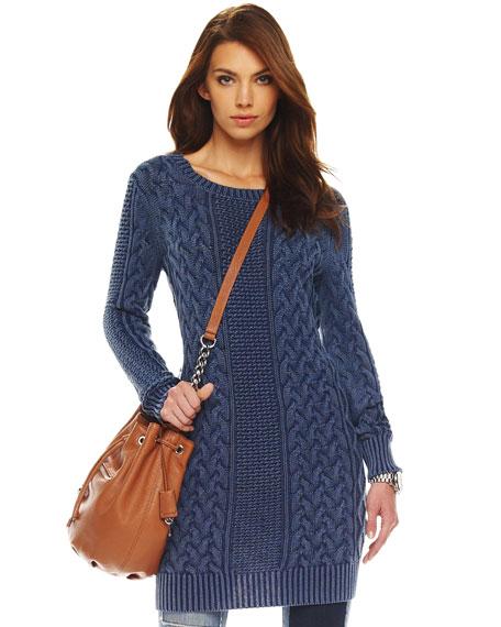 Fisherman Cable-Knit Dress
