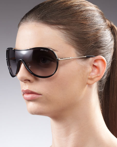 Anouk Shield Sunglasses, Havana