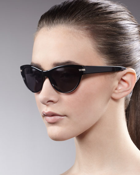 Kosslyn Cat-Eye Sunglasses, Black