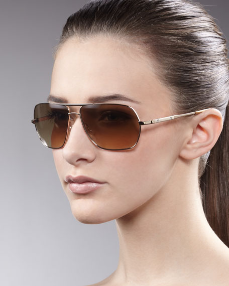 Kelton Aviator Sunglasses, Golden