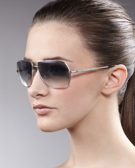 Kelton Aviator Sunglasses, Silvertone