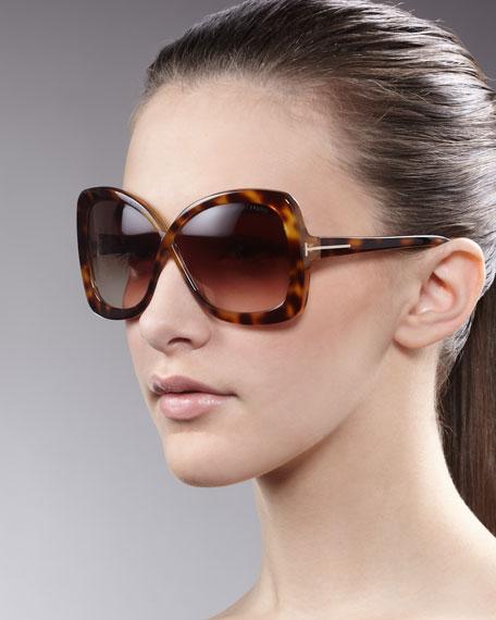 Calgary Butterfly Sunglasses, Havana