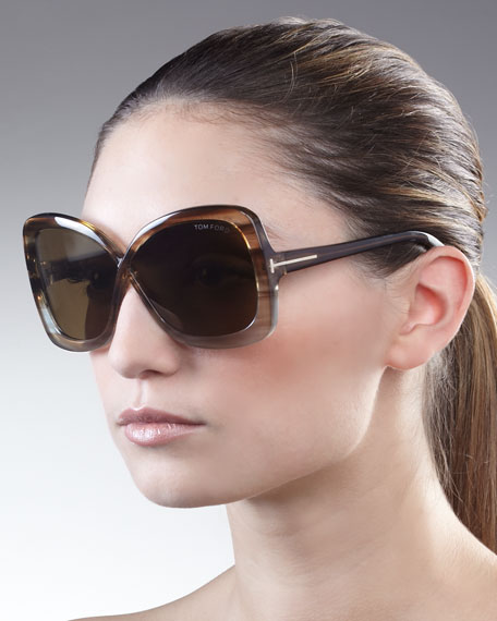 Calgary Butterfly Sunglasses, Striped