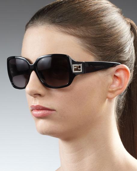 Forever Zucca Sunglasses, Black