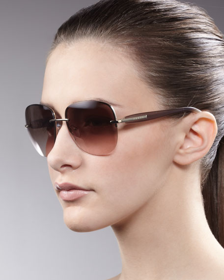 Rimless Glasses Advantages : Prada Rimless Sunglasses