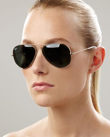Aviator Sunglasses, Green