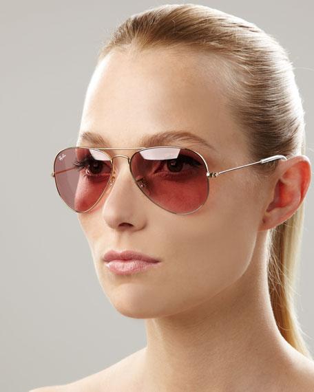 Aviator Sunglasses, Crystal Rose