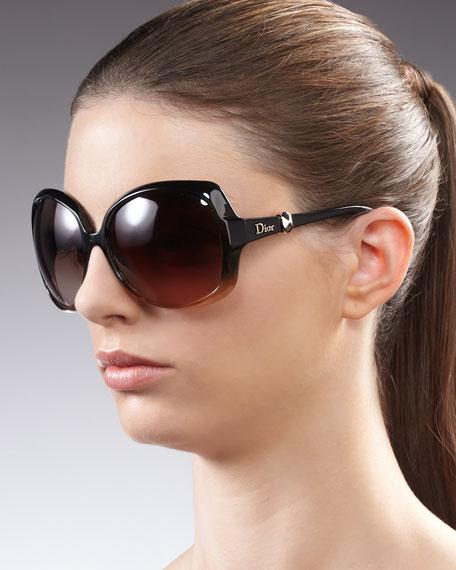 Squared Ombre Sunglasses, Green