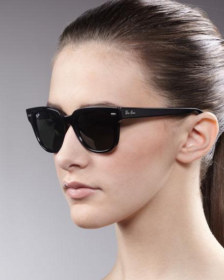 Icons Wayfarer Sunglasses, Shiny Black