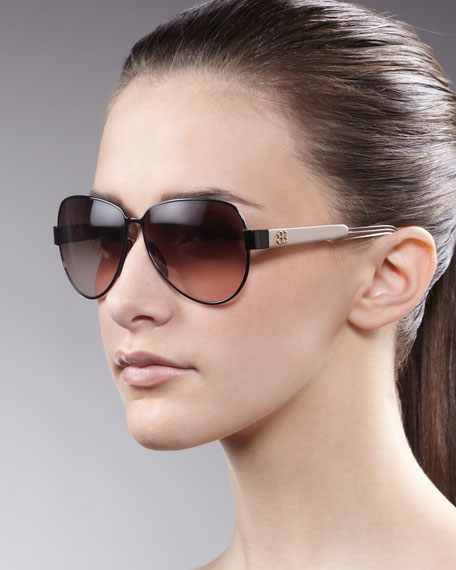 Teardrop Sunglasses, Black/Dove