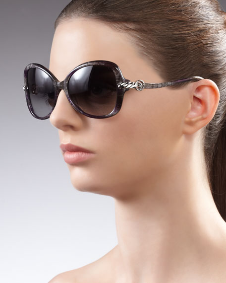 Signature Cable Butterfly Sunglasses, Ametrine