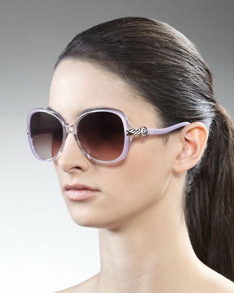 Signature Cable Sunglasses, Lavender Amethyst Fade
