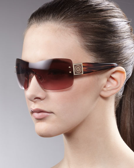 Shield Sunglasses, Burgundy
