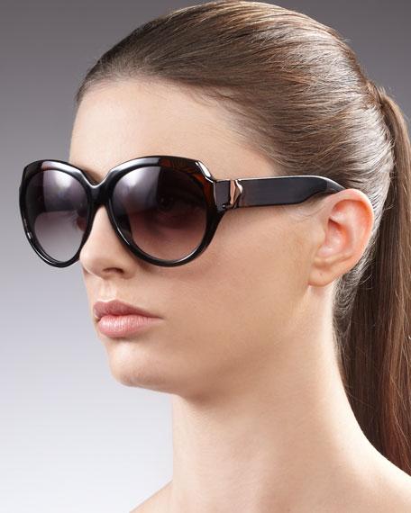Jealous Round Sunglasses, Brown