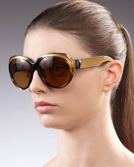 Jealous Round Sunglasses, Golden