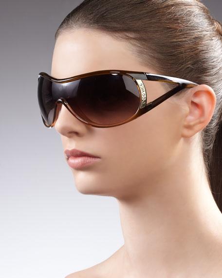Vamp Open-Temple Sunglasses