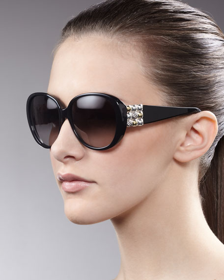Chiclet Sunglasses, Black